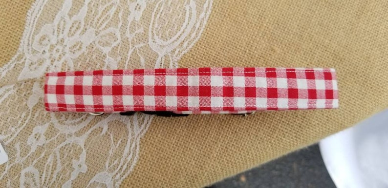 Red and white red gingham picnic pattern Summer Collar image 0