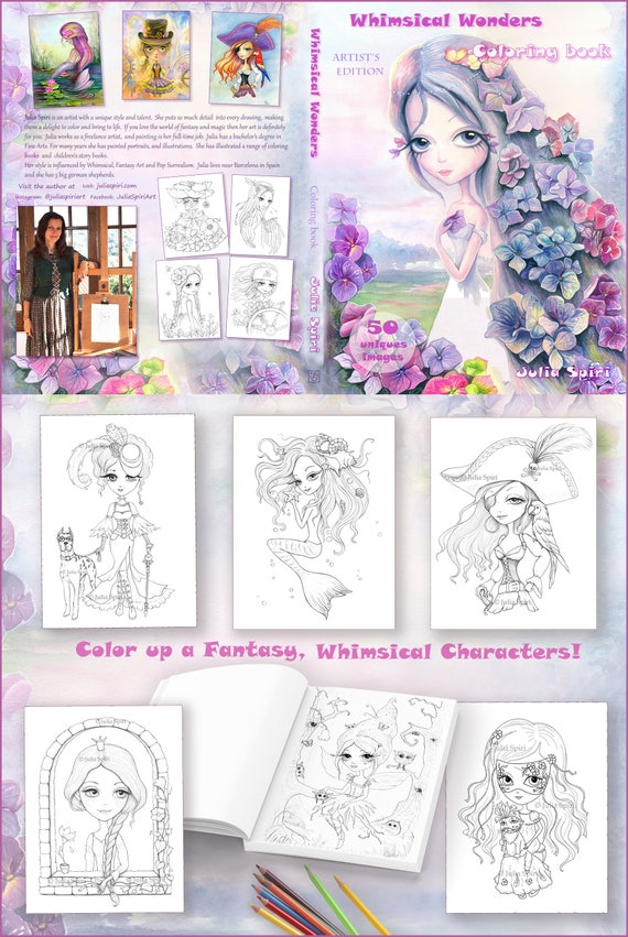 Coloring Book For Adults By Julia Spiri Whimsical Wonders