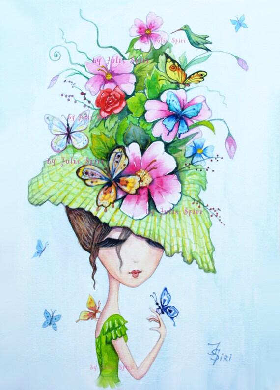 Digital Stamp Digi Coloring Hat Stamps Butterfly
