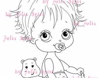 Digi Stamps, Scrapbooking printable, Digital stamp, Baby stamps, Babies, Baby Boy, Child, Boy. The Baby Collection. It's a Boy!