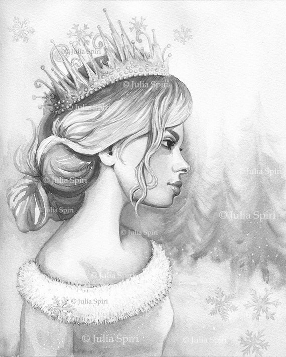 Grayscale Coloring Page Digital Stamp Digi Girl Fantasy Etsy