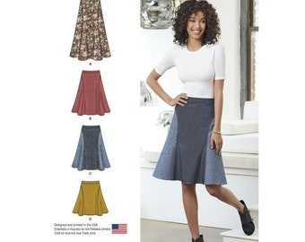 6f2abd3319a Misses  Easy-to-Sew Skirt in Three Lengths Simplicity Sewing Pattern 8220