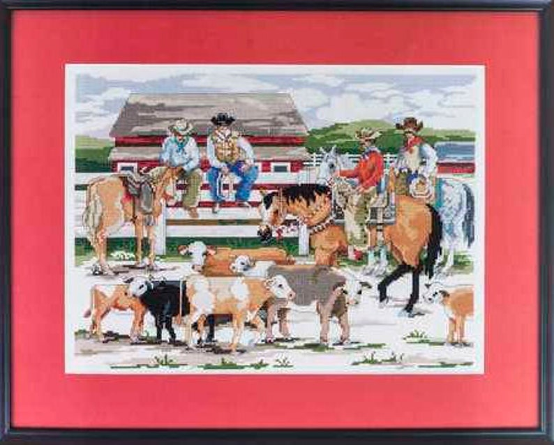 Back At The Ranch Counted Cross Stitch Kit