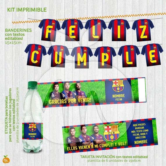 Printable Kit With Editable Texts Barcelona Soccer Messi Suarez