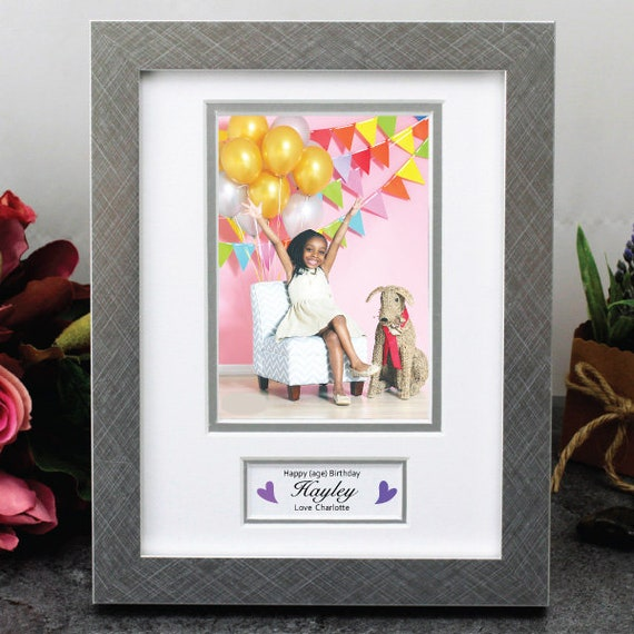 Birthday Photo Frame With Message 16th 18th 21st 30th Etsy