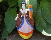 Vintage, Japanese, geisha, Lady With A Parrot, Wall Pocket, Made in Japan ( Marie Antoinette )
