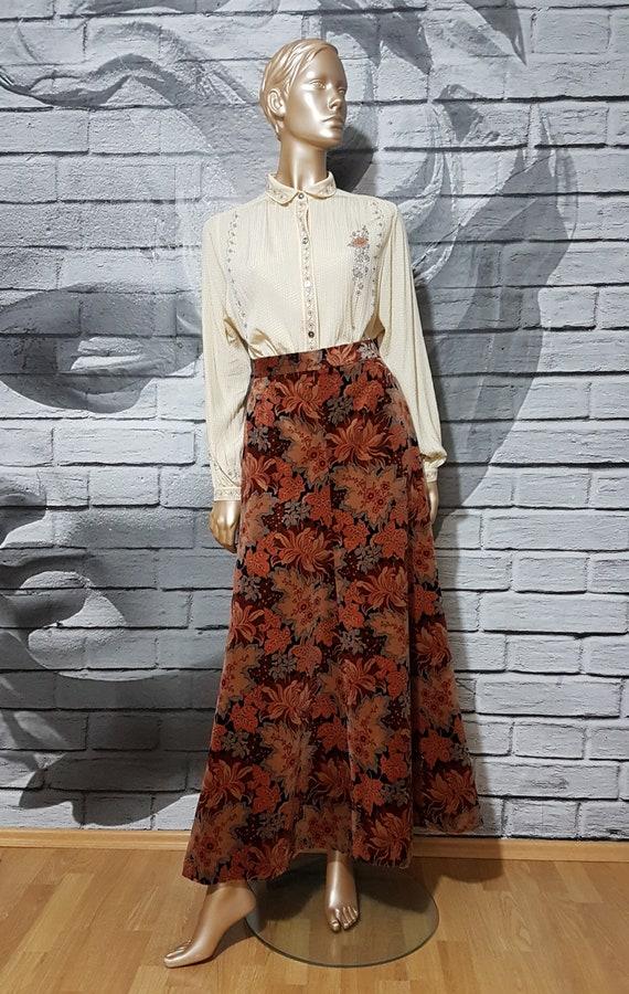 Vintage velvet maxi skirt
