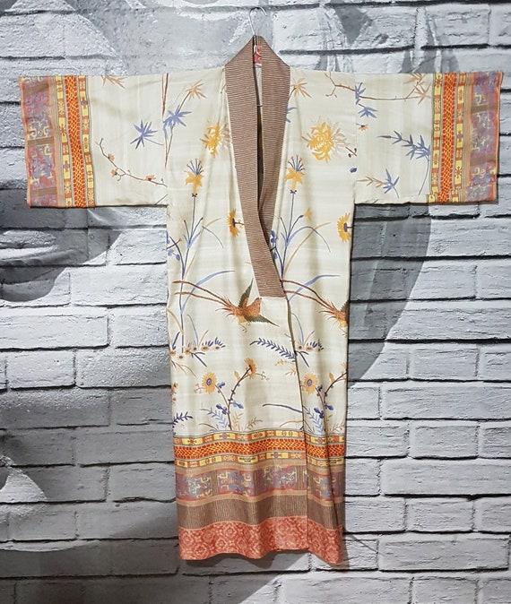 Granfoulard Bassetti bird print housecoat
