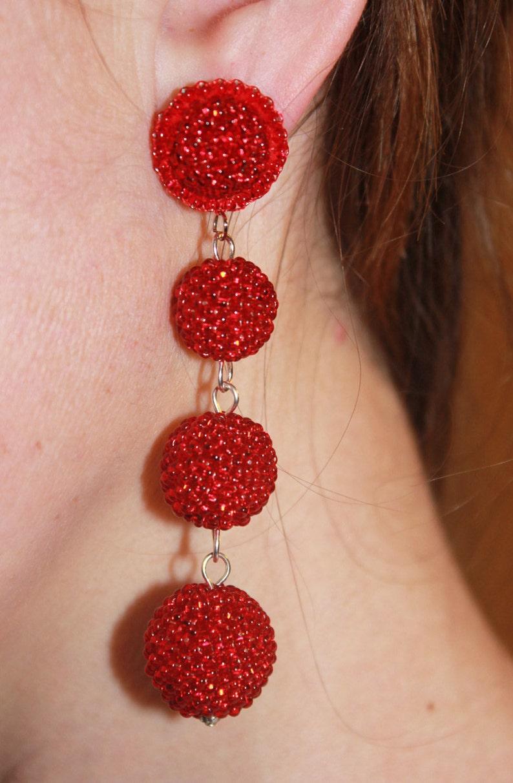long earrings gift for her woman gift gypsy earrings bohemian earrings tribal earrings ball earrings gift jewelry  boho b