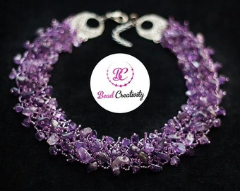 Amethyst necklace, Personalized gifts for mom grandma, birthday gift best friend, February birthstone collar choker, purple wedding jewelry