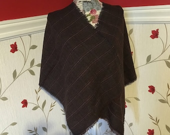 Irish Shawl - Celtic Wrap - Stole - 100% Irish Wool - Tweed - Tartan Plaid Checked