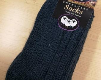 Wool Socks - Medium Size USA size 5 1/2-8 1/2 - 100% pure new wool - hiking socks, warm socks - unsex adult socks - Made in Ireland
