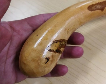 Hazel Walking Stick -  Shillelagh- hand carved- rustic - 36 1/4 inch