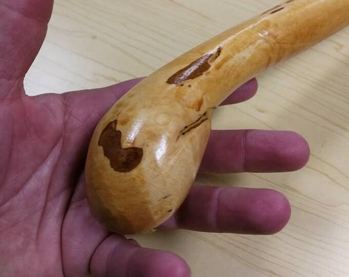 Hazel Walking Stick -  Shillelagh- hand carved- rustic - 36 1/2 inch