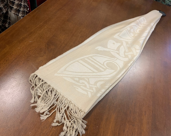 Tan Celtic Scarf