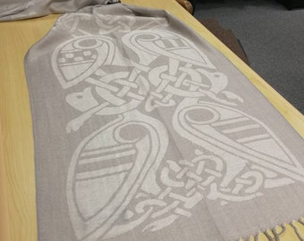 Silver Celtic Scarf