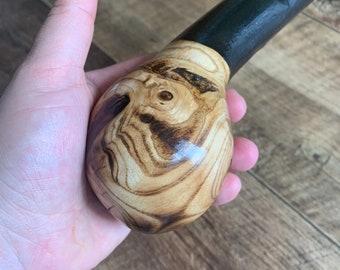37 inch Rowan Tree Walking Stick - Irish Mountain Ash - Shillelagh- hand carved- rustic amazing handle
