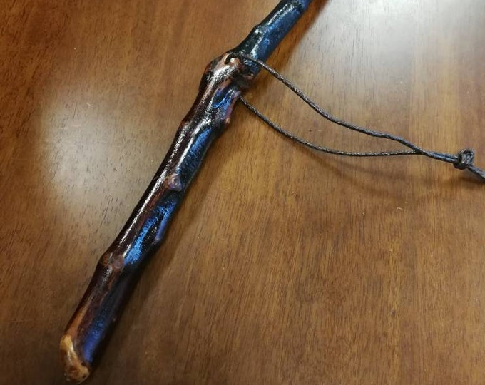 Blackthorn Hiking Staff pole 49 1/2 inch - Handmade in Ireland by me - beautiful  handl