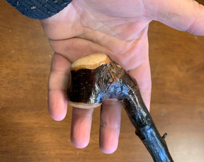 Blackthorn Walking Stick  - Handmade in Ireland - shillelagh - 35 1/2 inch - extra thorny