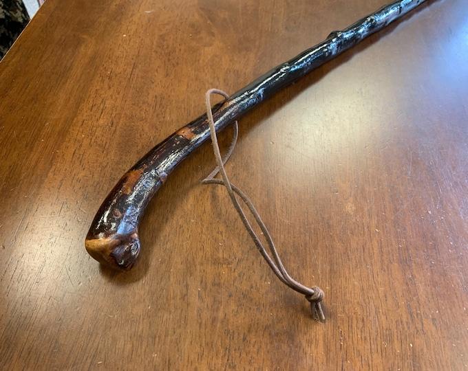 Blackthorn Hiking Staff pole 45 1/4 inch - Handmade in Ireland by me - beautiful  handle