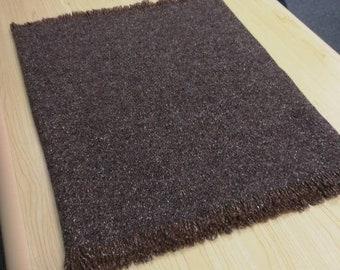 Tweed Scarf- unisex scarf - 100% wool - brown with fleck