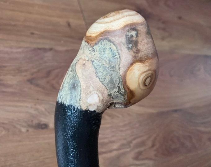 38 inch Rowan Tree Walking Stick - Irish Mountain Ash - Shillelagh- hand carved- rustic amazing handle