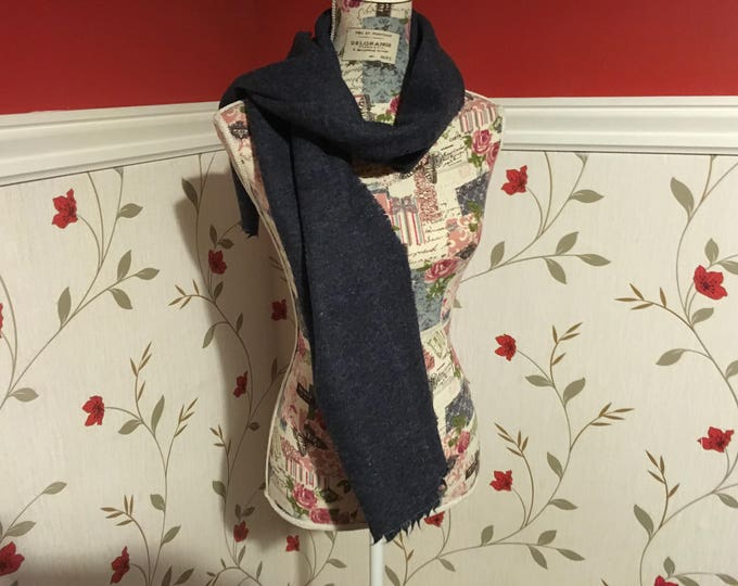 Blue Tweed Scarf- Ladies scarf - Womens- Mens - 100% wool - Soft - Unisex scarf