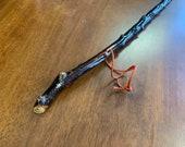Blackthorn Hiking Staff pole 50 inch - Handmade in Ireland by me - beautiful handle
