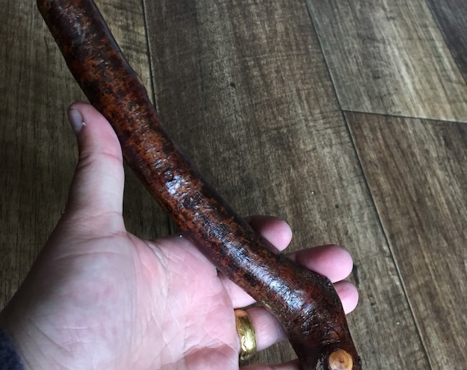 Blackthorn Hiking Staff pole 44 inch - Handmade in Ireland by me - beautiful  handle