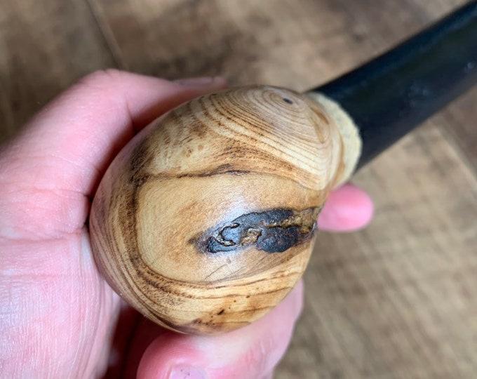 36 inch Rowan Tree Walking Stick - Irish Mountain Ash - Shillelagh- hand carved- rustic amazing handle
