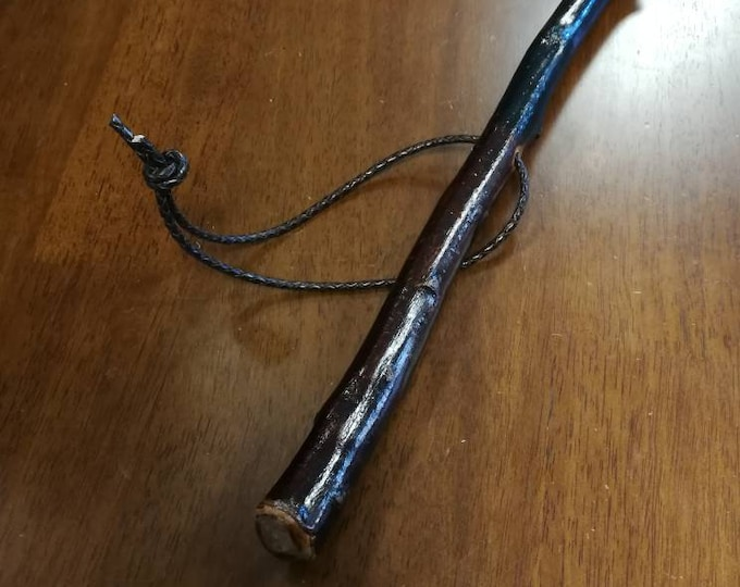 Blackthorn Hiking Staff pole 49 inch - Handmade in Ireland by me - beautiful  handle