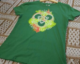 Ladies Celtic Irish T-Shirt- Ireland T-Shirt - Free Shipping