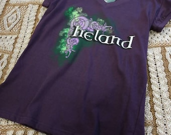 Ladies Celtic Irish T-Shirt- Ireland T-Shirt - Free Shipping