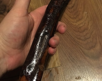 Blackthorn Hiking Staff pole 49 inch - Handmade in Ireland by me - beautiful  handle