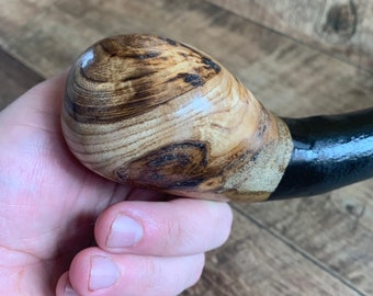 36 3/4 inch Rowan Tree Walking Stick - Irish Mountain Ash - Shillelagh- hand carved- rustic amazing handle
