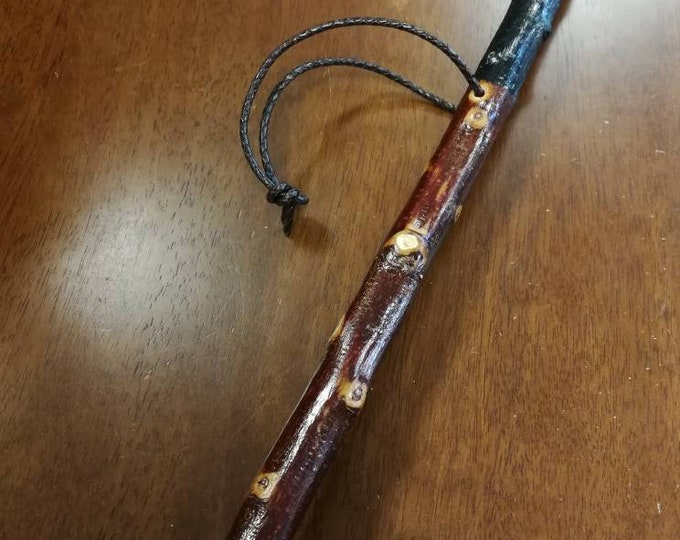 Blackthorn Hiking Staff pole 51 inch - Handmade in Ireland by me - beautiful  handle