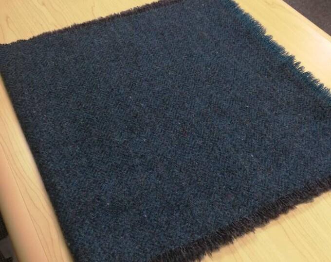 Tweed Scarf- unisex scarf - 100% wool - blue with fleck