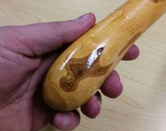 Hazel Walking Stick -  Shillelagh- hand carved- rustic - 36 3/4 inch