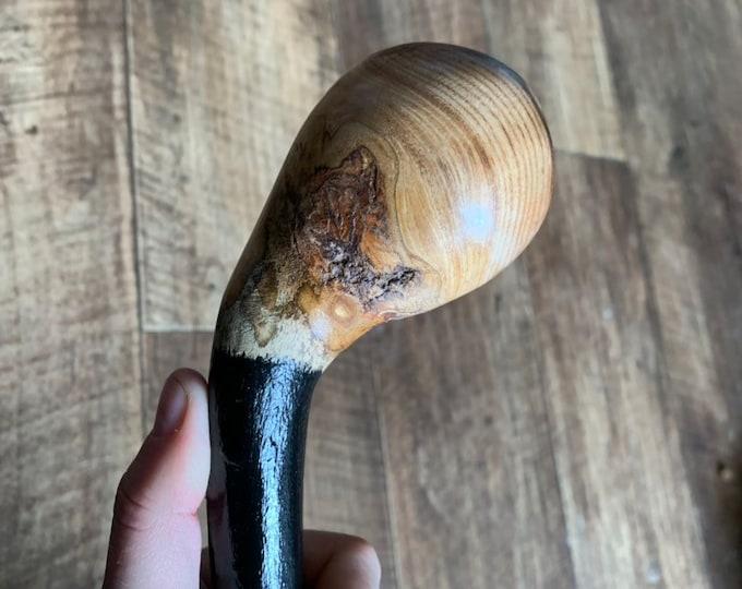 36 1/2 inch Rowan Tree Walking Stick - Irish Mountain Ash - Shillelagh- hand carved- rustic amazing handle