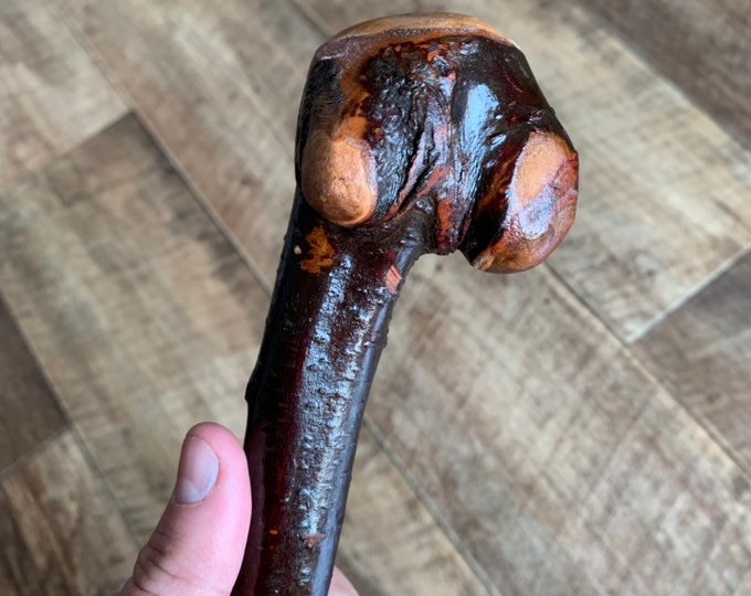 Blackthorn Walking Stick -Handmade in Ireland - shillelagh - 32 1/2 inch