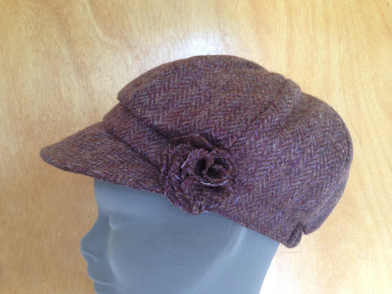 3c41e3bf ... 100% Tweed Wool - Donegal Tweed Hats - Womens Irish Bakerboy Hats - Newsboy  Cap - Plaid. 1