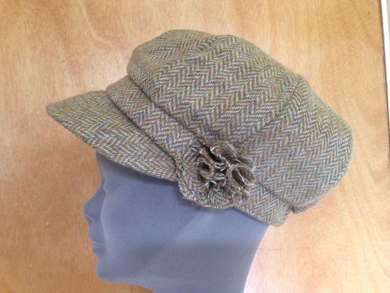 3cfed007 Ladies Newsboys Cap Hat 100% Tweed Wool Donegal Tweed Hats | Etsy