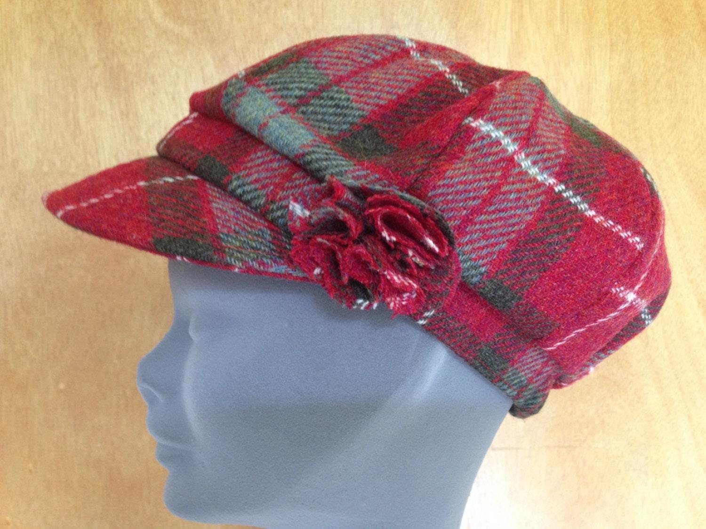 2011f0b9414 Ladies Newsboys Cap Hat - 100% Tweed Wool - Donegal Tweed ...