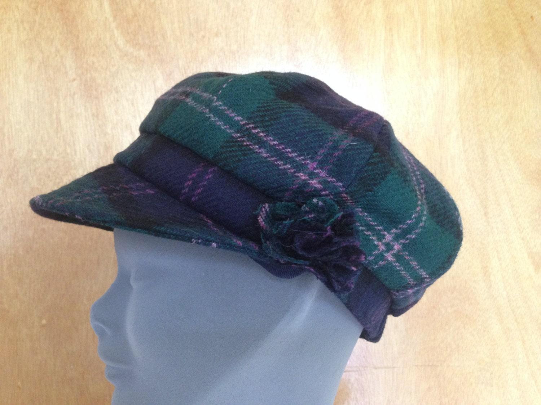 f3a57037 ... 100% Tweed Wool - Donegal Tweed Hats - Womens Irish Bakerboy Hats  -Tartan Newsboy Cap - Plaid. 1