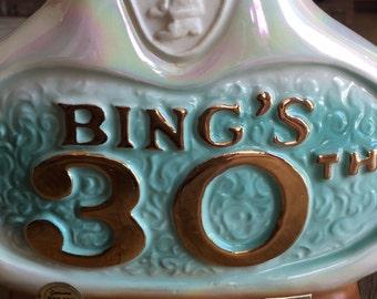 Bing Crosby's 30th Monterey Penninsula Jim Beam bourbon decanter, liquer decanter collectible