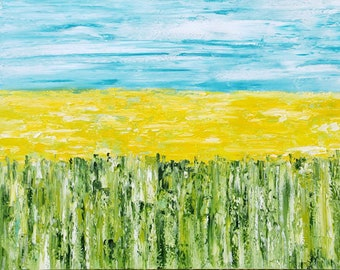 24x48 horizontal painting Large painting Abstract landscape art Large artwork Original art Landscape oil painting Abstract landscape Canvas