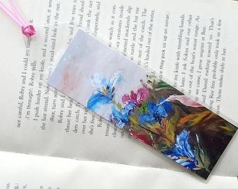 Flower bookmark Reader gift Flower art Book accessory Bookmark art Book lover Bookmark handmade Bookmark Unique bookmark Bookmark quote Gift
