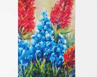 64fb1d0f Bluebonnet art | Etsy