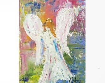Angel print Angel wings Angel Guardian angel Angel for baby Angel for mom Angel art Angel artwork Angel decor Abstract Angel art print Decor