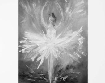 Dance art Dance print Ballerina art Ballerina print Ballerina décor Black and white art Black and white print Fine art print Girls room art